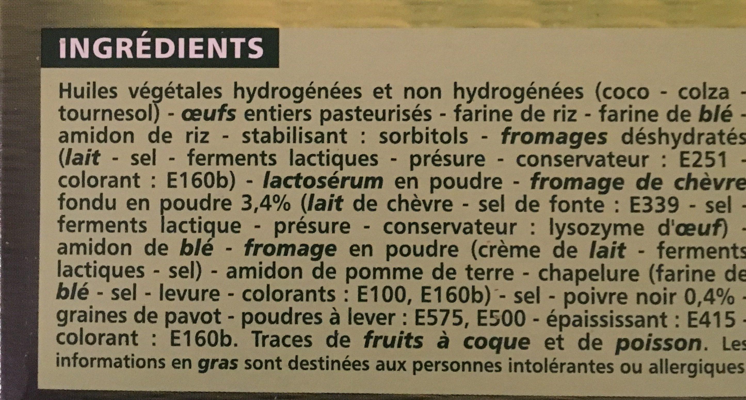 Choux Chevre Poivre 60G Co - Ingrédients - fr