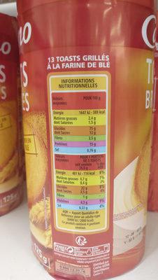 Toasts Briochés - Voedingswaarden - fr
