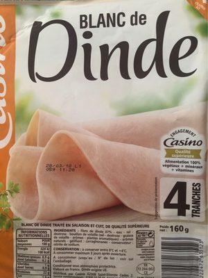 Blanc de Dinde 4 Tranches - Produit - fr