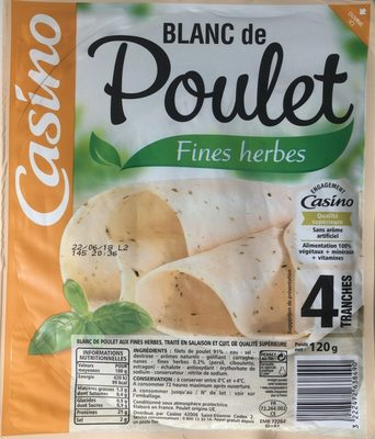 Blanc de poulet fines herbes - Produit - fr