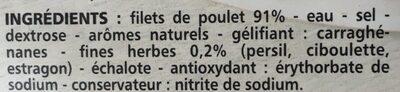 Blanc de poulet fines herbes - Ingrédients - fr