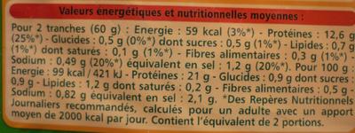 Blanc de poulet fines herbes - Informations nutritionnelles - fr