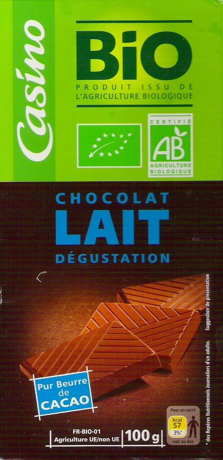 Chocolat lait dégustation – Pur beurre de cacao - Produit - fr