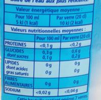 Thé glacé Light - saveur pêche - Nutrition facts - fr