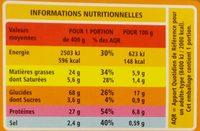 Paella au poulet et aux fruits de mer - Informations nutritionnelles - fr