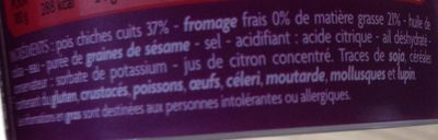 Houmous - pois chiches et sésame - Ingredients