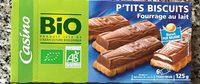 P'tits biscuits fourrage au lait - Product