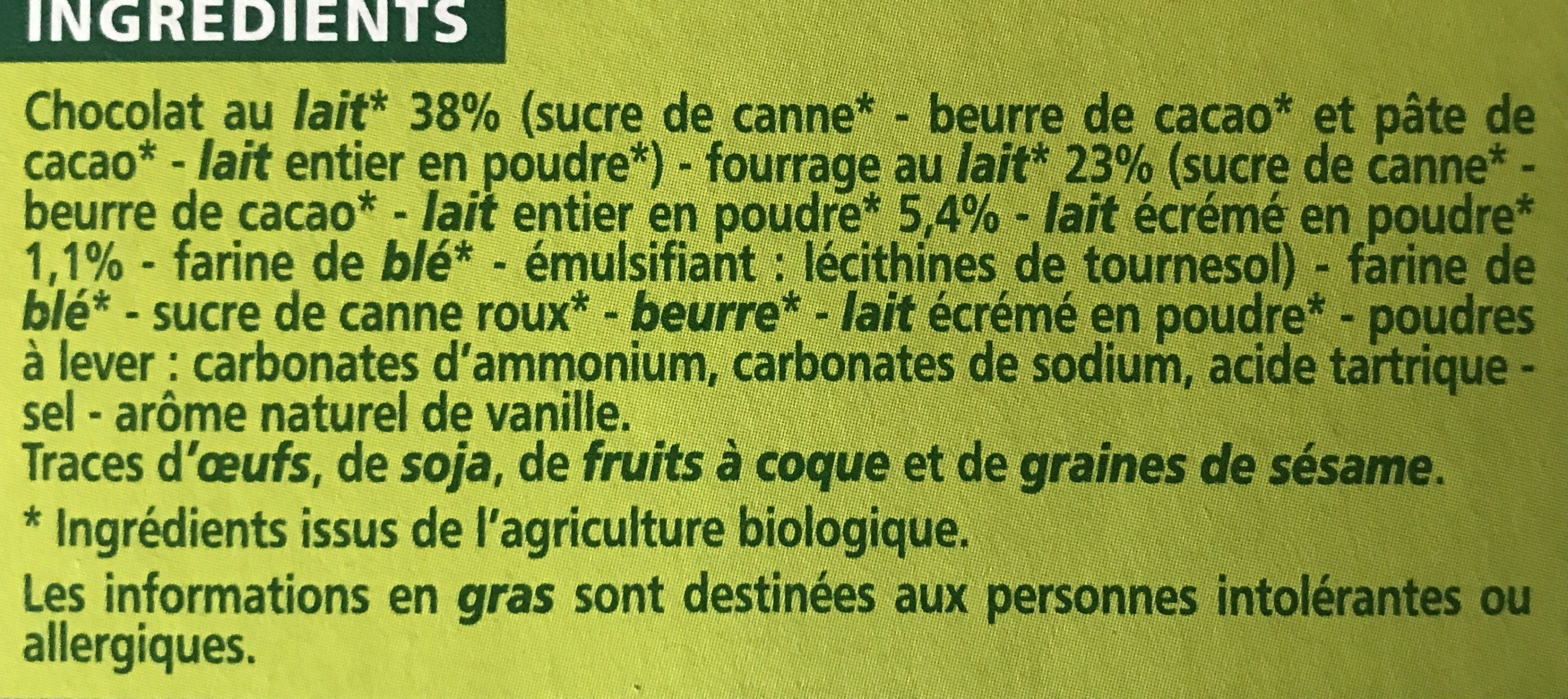 P'tits biscuits fourrage au lait - Ingrediënten