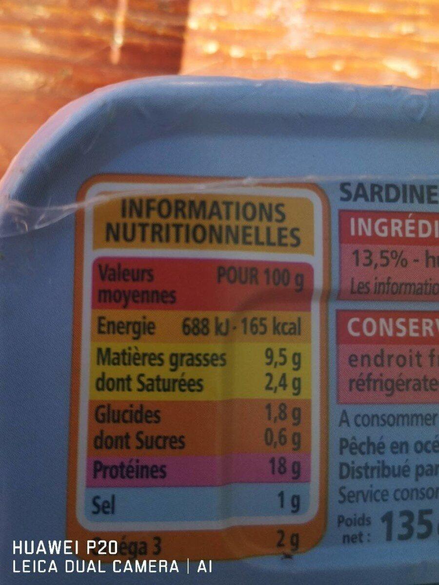 Sardines à la sauce tomate - Informations nutritionnelles - fr