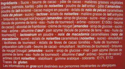 Rêves de chocolat Assortiment de luxe Beaumesnil - Ingrédients - fr