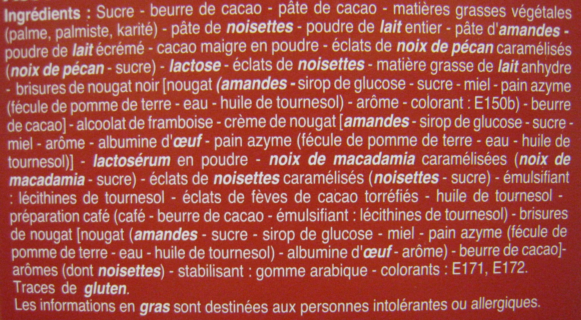 Rêves de chocolat Assortiment de luxe Beaumesnil - Ingrédients