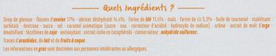 Barres céréales abricot - Ingredients