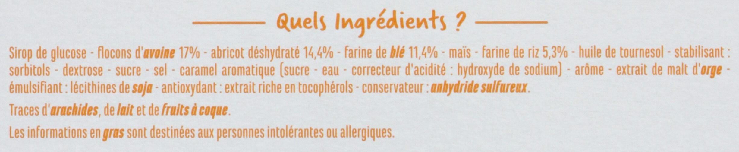 Barres céréales abricot - Ingrediënten - fr