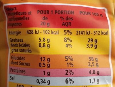 Croustillants goût Emmental - Nutrition facts - fr