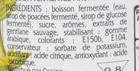 Boisson fermentée aromatisée à la gentiane - Ingrédients - fr