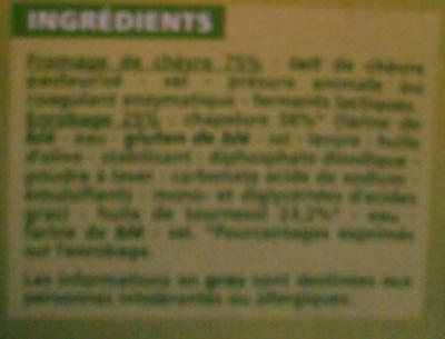 Fromages de chèvre à dorer - Ingredients