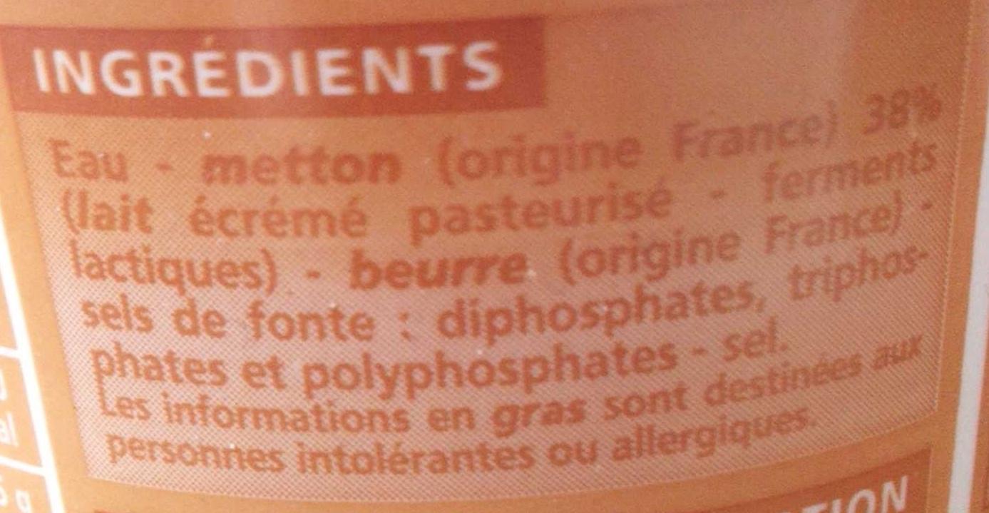 Cancoillotte nature - Ingrédients - fr