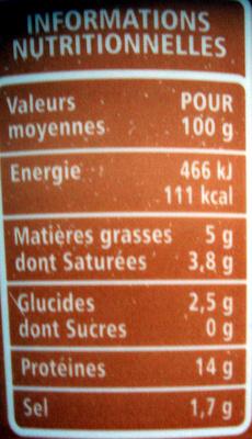 Cancoillotte à l'ail - Nutrition facts - fr