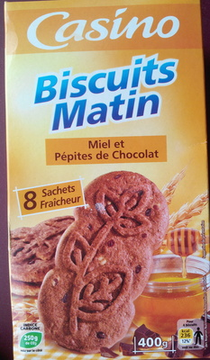 Biscuits Matin Miel et Pépites de Chocolat - Produit - fr