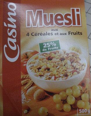 Muesli aux 4 céréales et aux fruits - Product - fr