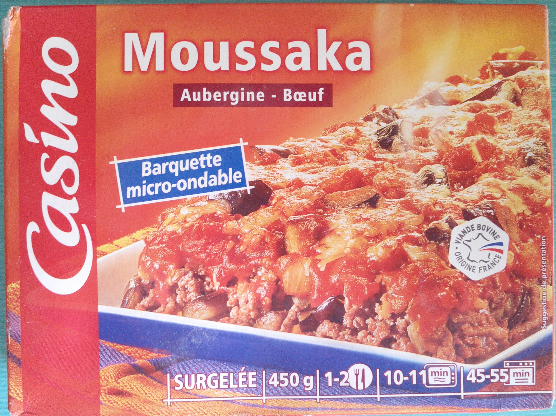 Moussaka (Aubergine - Bœuf), Surgelée - Produkt