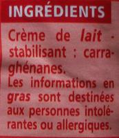 Crème Entière Fluide (30 % MG) - Ingrédients - fr