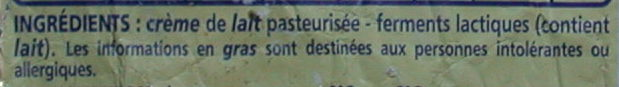 Beurre traditionnel doux - Ingredients - fr