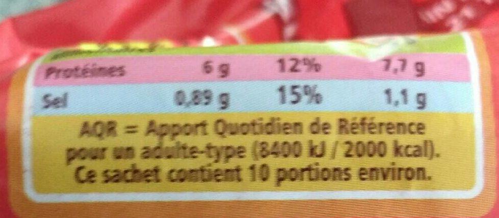 Maxi format Spécial sandwich - Informations nutritionnelles - fr