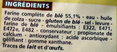 Maxi Format Spécial sandwich complet - Ingrédients - fr