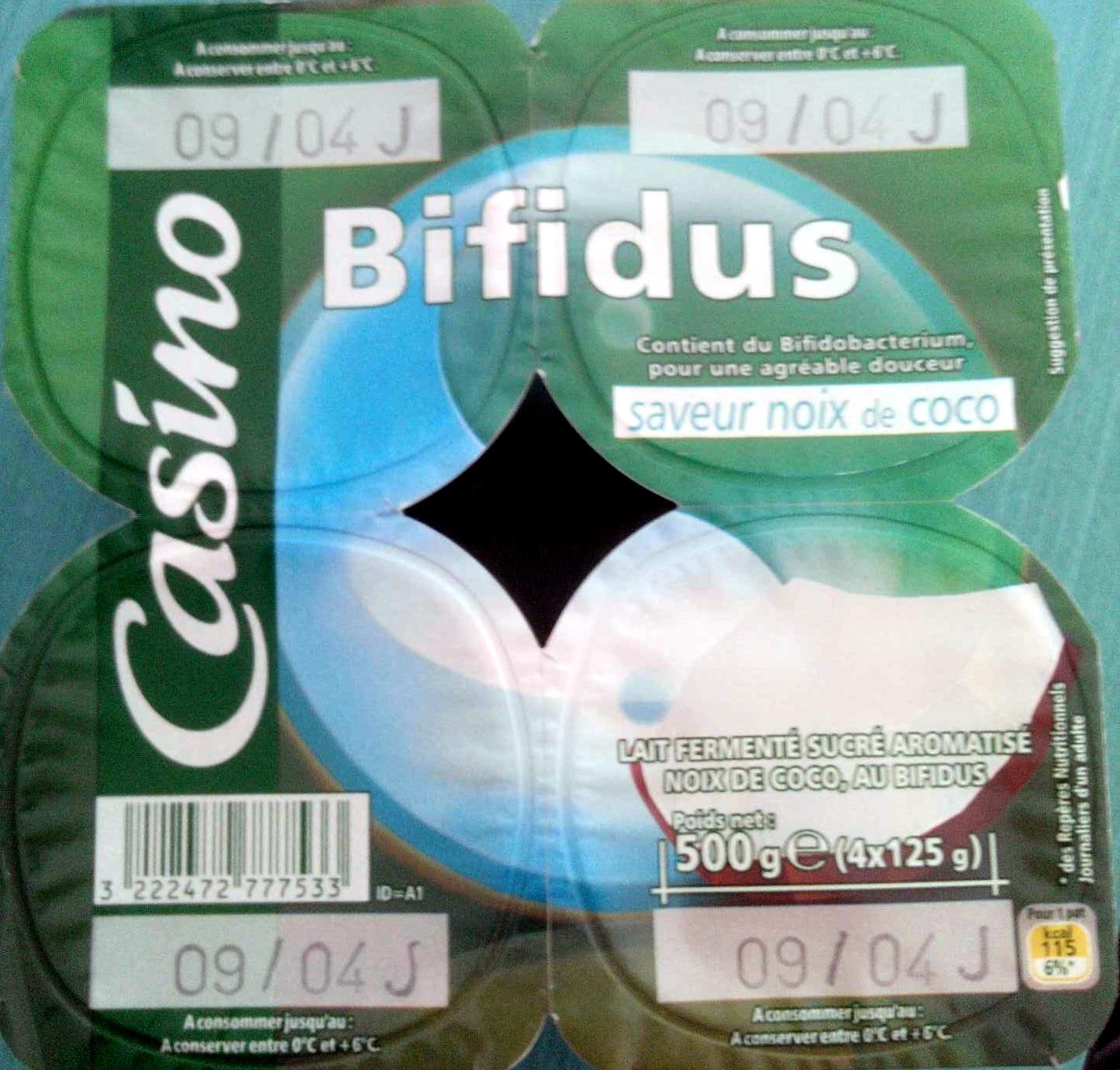 Bifidus saveur noix de coco - Produit