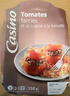 Tomates farcies et riz cuisiné à la tomate - Product