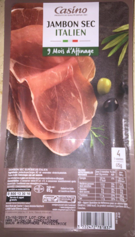 Jambon sec Italien 4 tranches - Product