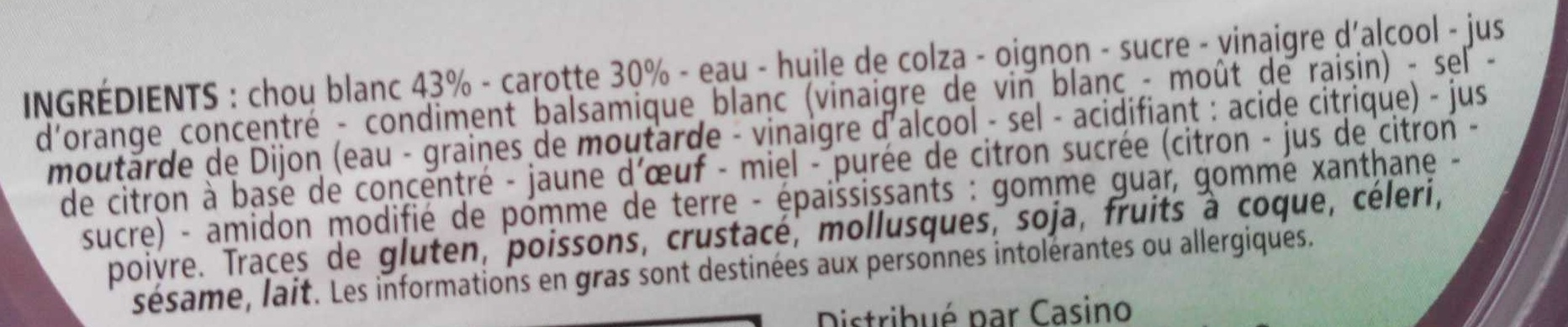 Coleslaw - Ingrediënten