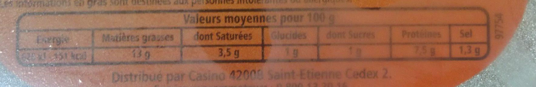 Museau de Porc - Voedingswaarden - fr