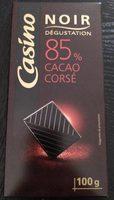 Noir dégustation - 85% de cacao intense - Product