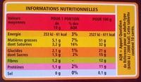 Noir dégustation - 85% de cacao intense - Voedingswaarden