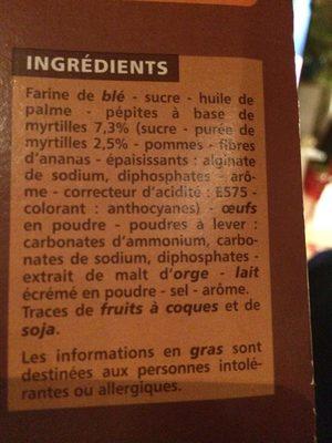 Cookie Pepite Au Myrtille 200G Co - Ingrédients - fr