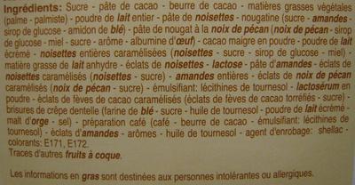 Rêves de chocolat Plaisirs Gourmands Beaumesnil - Ingrédients