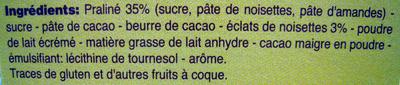Rêves de chocolat Escargots noir Beaumesnil - Ingrédients