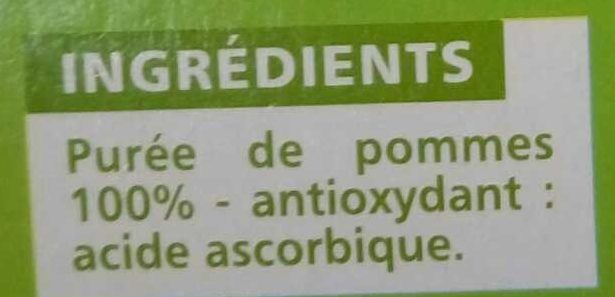 Sans sucres ajoutés* Pomme - Ingrediënten