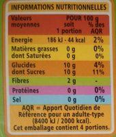Sans sucres ajoutés* Pomme - Voedingswaarden