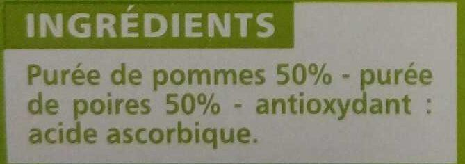 Sans sucres ajoutés* Pomme Poire - Inhaltsstoffe - fr