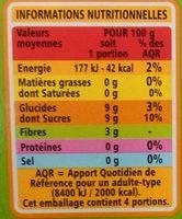 Sans sucres ajoutés* Pomme Poire - Nährwertangaben - fr