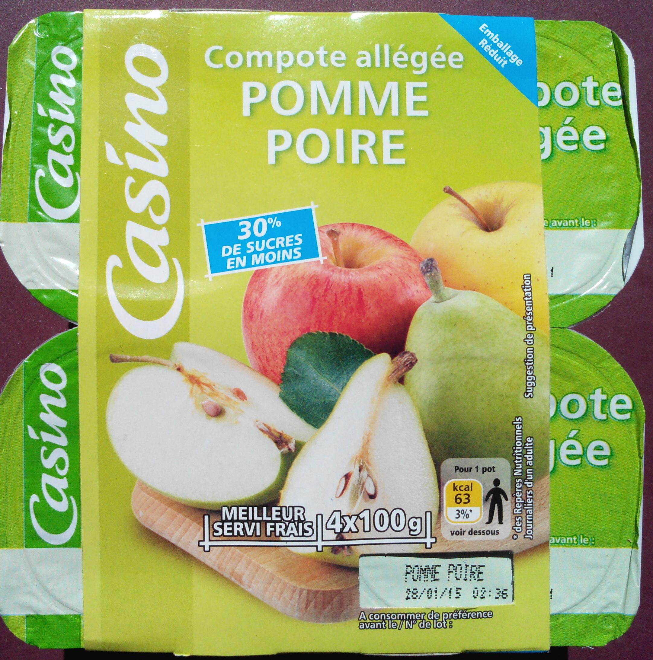 Compote Allégée Pommes Poires - Product