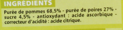 Compote Allégée Pommes Poires - Ingrediënten