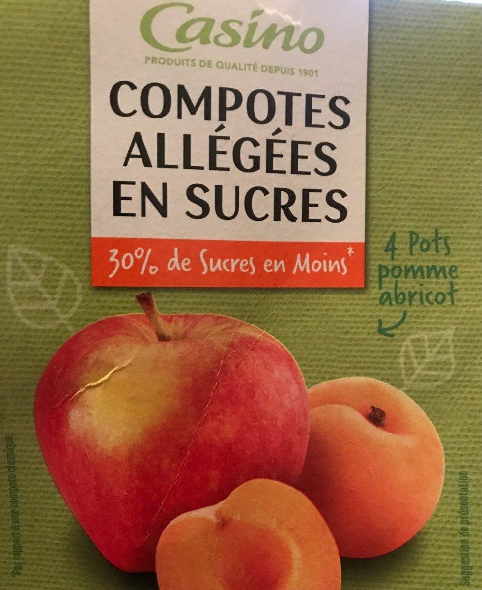 Compote allégée Pommes Abricots - Product