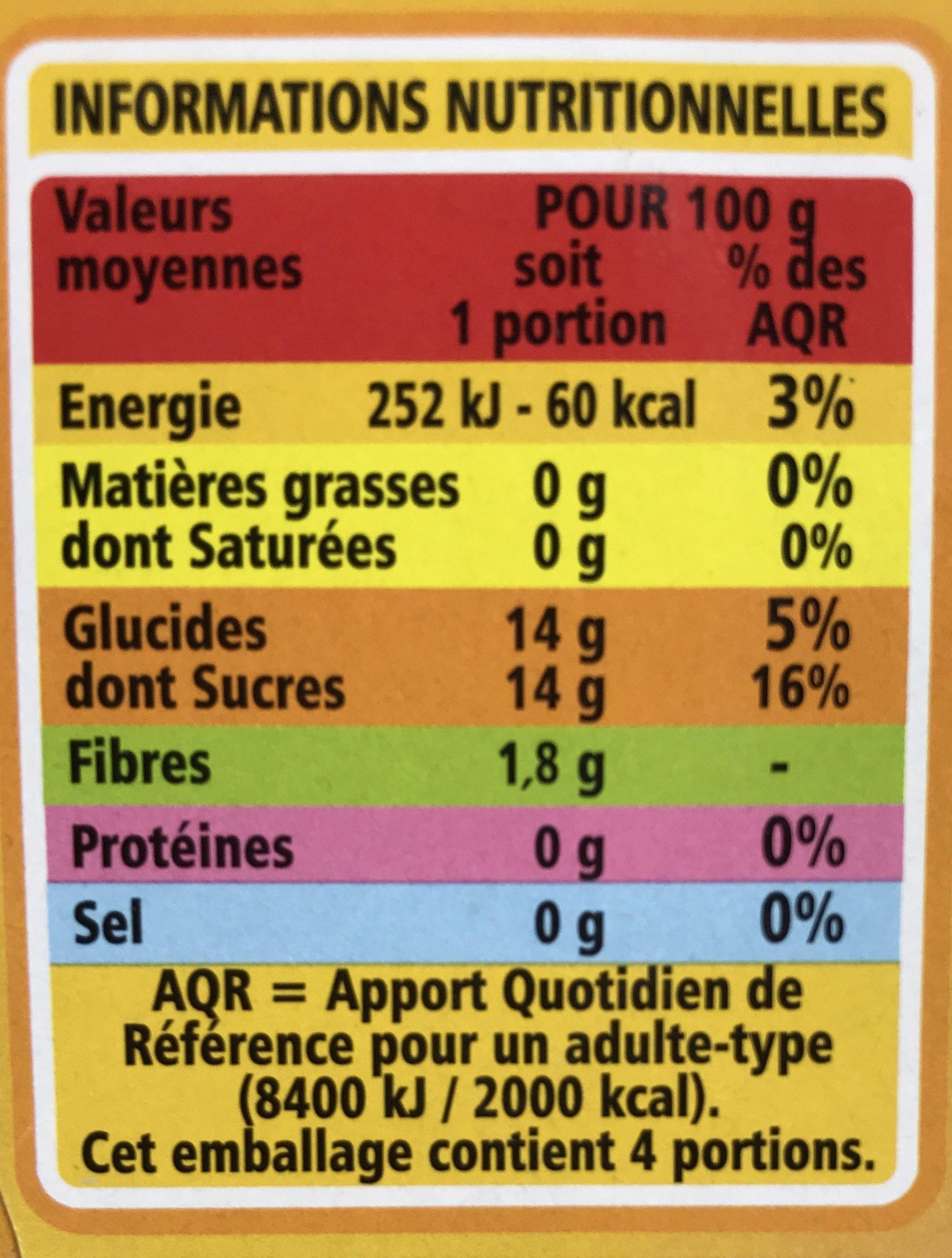 Compote allégée Pommes Abricots - Nutrition facts