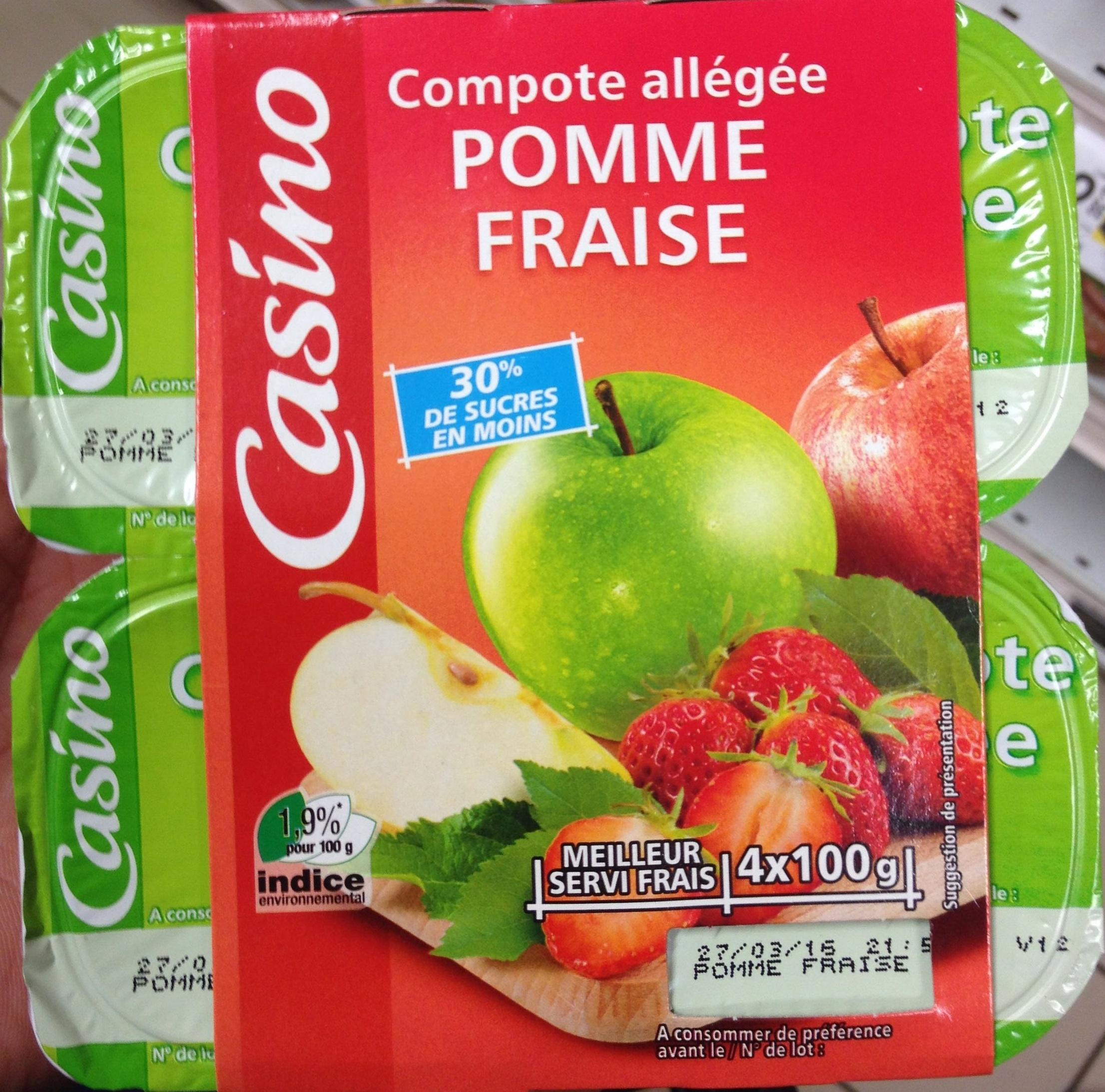 Compote allégée Pommes Fraises - Produkt