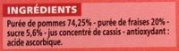 Compote allégée Pommes Fraises - Inhaltsstoffe