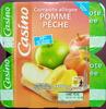 Compote allégée Pomme Pêche - Produit